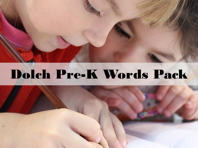PRE-K Dolch Words: Word Wall: Word Trace: Dolch Word Task Cards