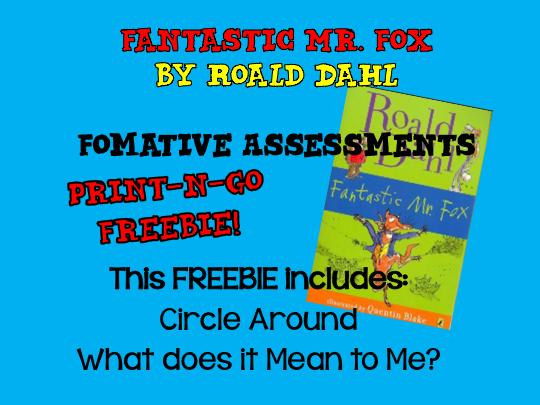 FREEBIE! Fantastic Mr. Fox: Formative Assessments