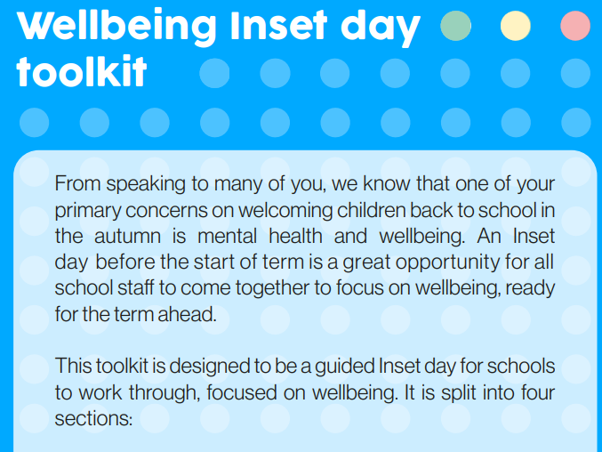 Planning a wellbeing inset day toolkit