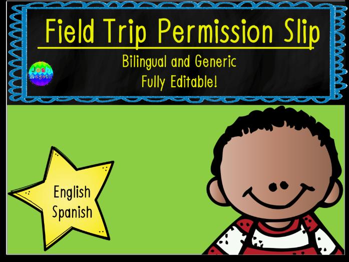 Field Trip Permission Slip Bilingual and Generic