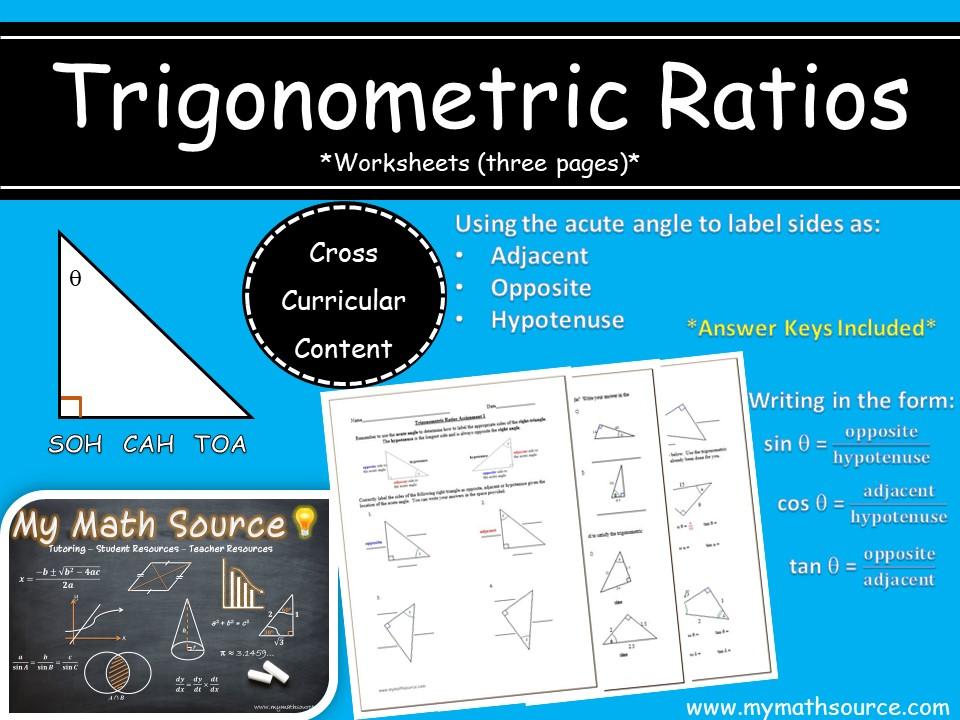 Trigonometric Ratios: Labeling Sides and Identifying Ratios
