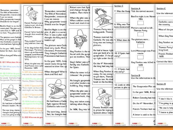 Whodunnit? Year 3 Bonfire Night Whole Class Guided Reading Comprehension