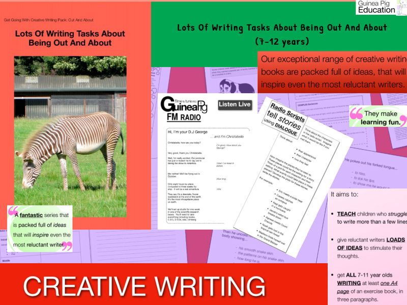 Lot's Of Writing Tasks About Being Out And About' (7-11 years)