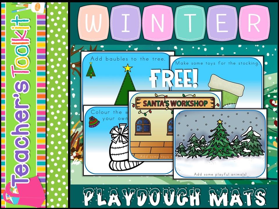 {Free} Winter Playdough Mats