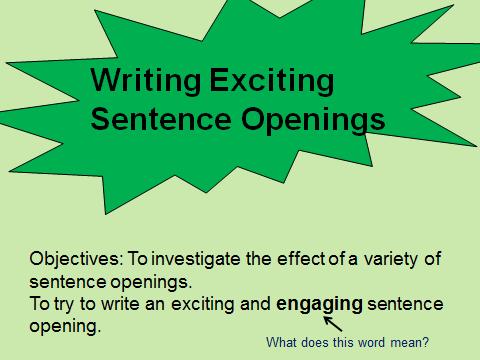 Sentence openings
