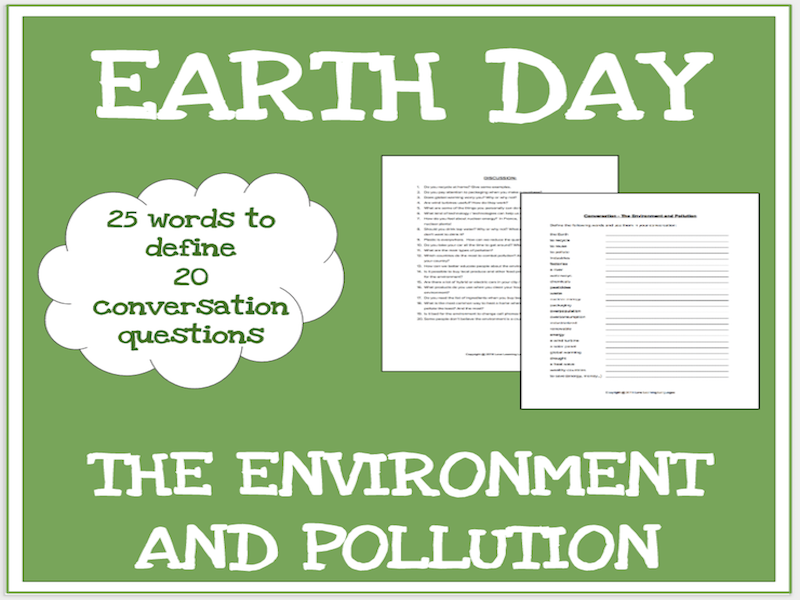 The environment - ESL conversation questions - No prep speaking activity