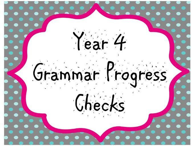 Year 4 Grammar Progress Checks