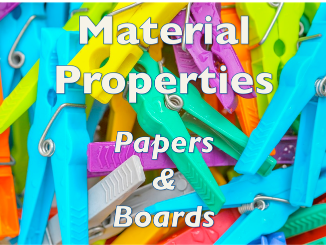 Materials and their working properties (papers and boards) - online learning