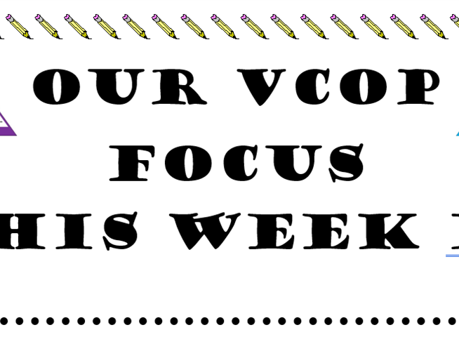 VCOP weekly focus display
