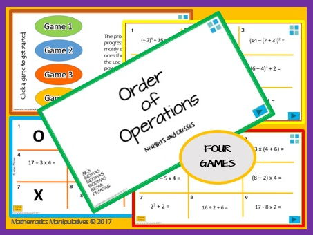 Number Order of Operations Noughts and Crosses PowerPoint Games