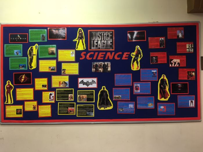 JUSTICE LEAGUE Science- Classroom Display