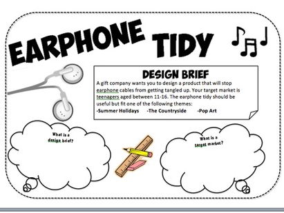 Design and technology - Earphone tidy project. SOW, 2 x work booklet & power points
