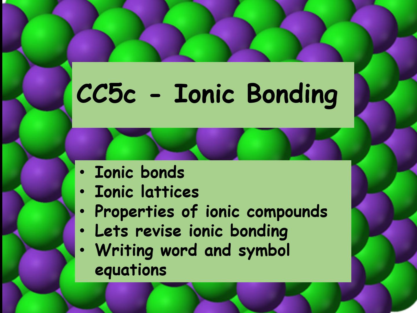 CC5 Ionic Bonding