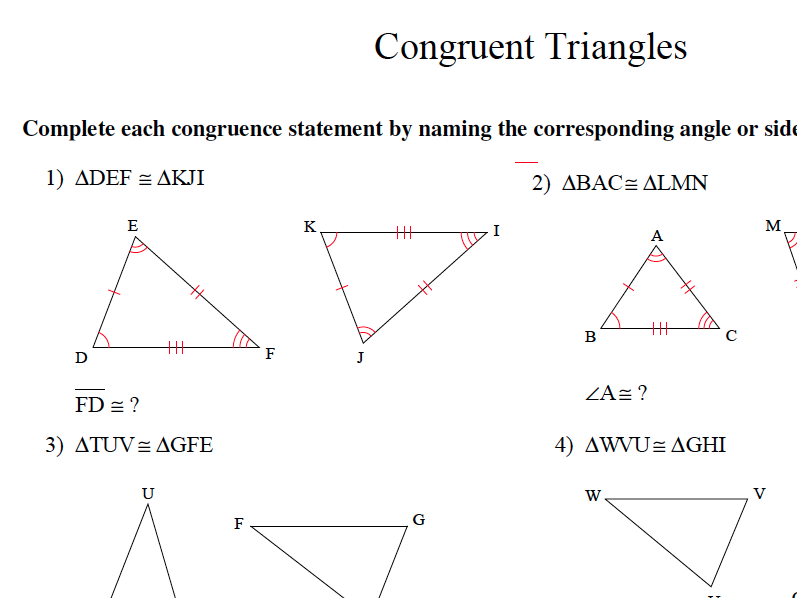 GCSE Maths Congruent Triangles Revision