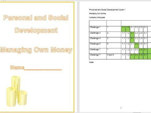 Managing Own Money workbook