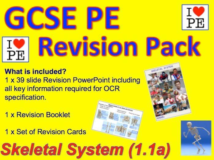 GCSE PE Skeletal System Revision Pack