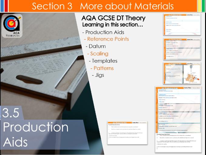 AQA GCSE DT 3.5 Production Aids