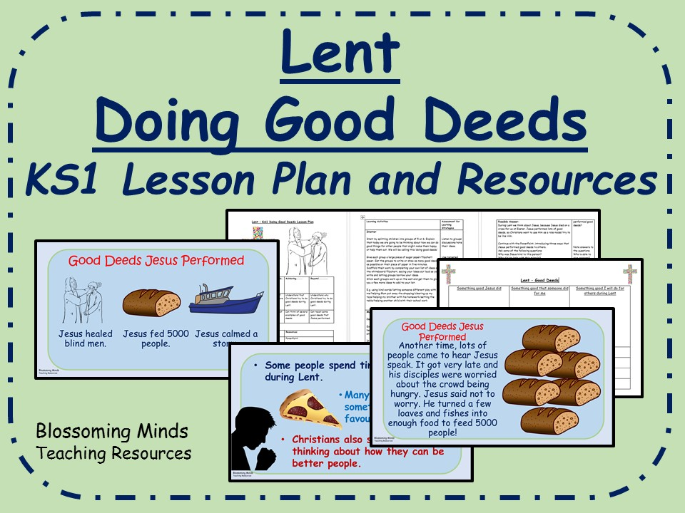 KS1 Lent Lesson Plan and Resources - Doing Good Deeds