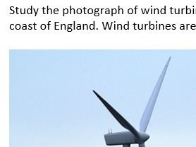 GCSE exam-style question on wind power