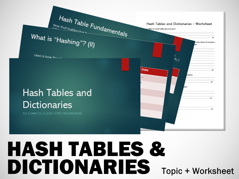 A-Level Computing - Hash Tables and Dictionaries