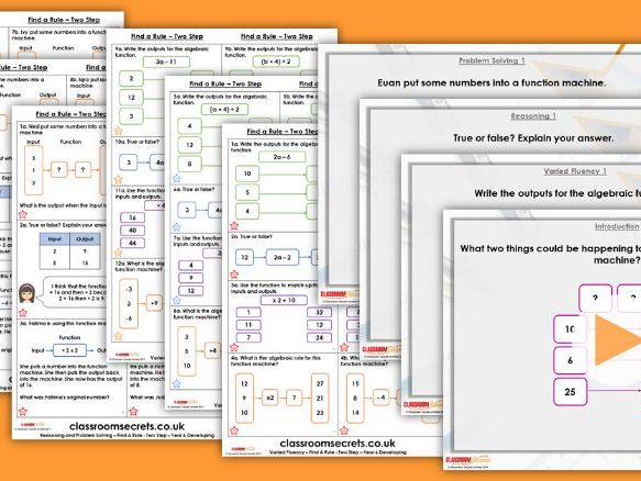 Year 6 Find a Rule - Two Step Spring Block 3 Step 2 Lesson Pack