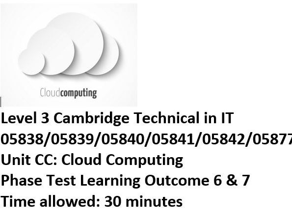 Cambridge Technicals Level 3 Cloud Computing (CC Unit)
