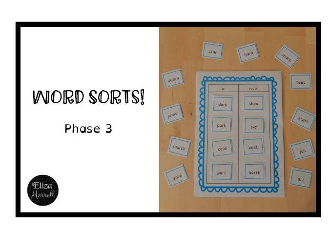 FREE! Phonics - Phase 3 - Word Sort - er