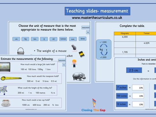 Year 6- Measurement-converting units - White rose style