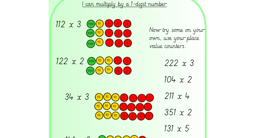 place value counters and multiplying by 1 digit numbers by missjg133 teaching resources. Black Bedroom Furniture Sets. Home Design Ideas