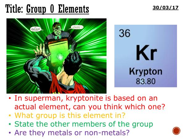 Noble gases/group 0 elements - complete lesson (KS3)