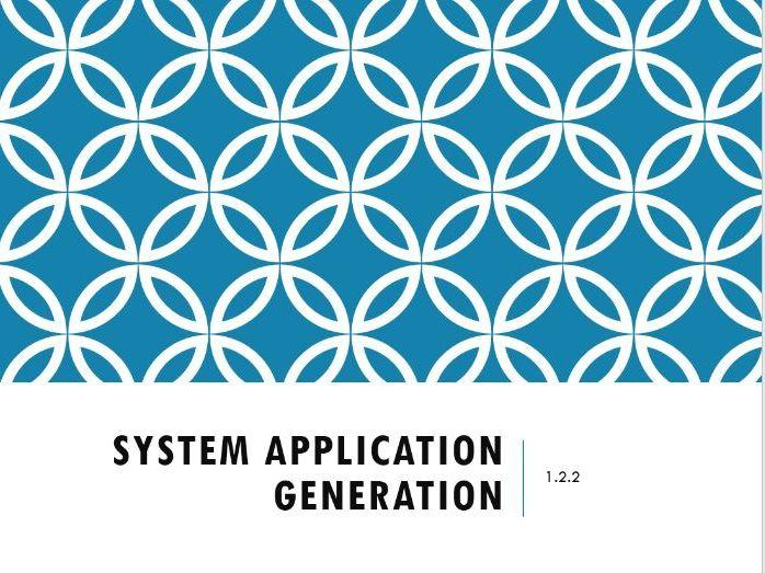 1.2.2 System Application Generation OCR A-Level