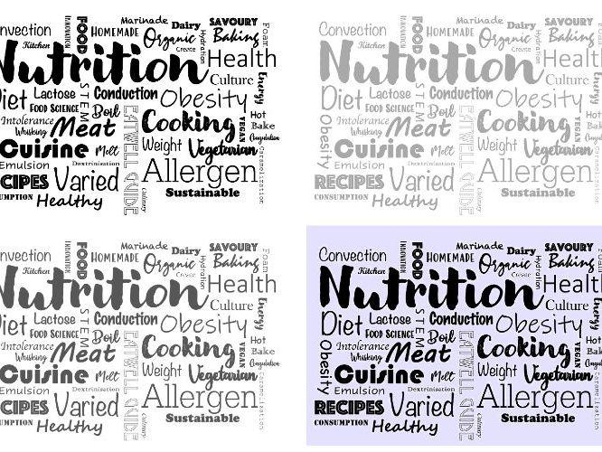 Food & Nutrition Word Cloud
