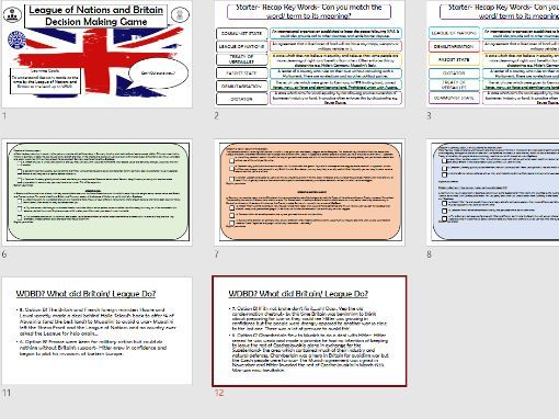 League of Nations decision making game