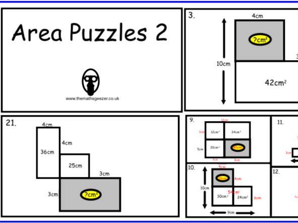 Area Puzzles 2 - PDF