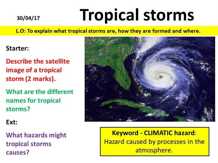 NEW OCR GCSE - Natural Hazards - Tropical Storms