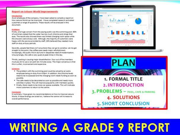 EDUQAS GCSE English Language - Writing a GRADE 9 formal report (PAPER 2)