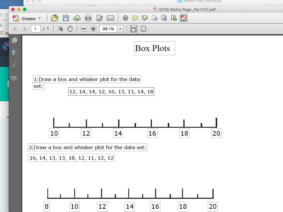 GCSE Maths Revision Box Plots
