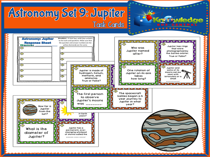 Astronomy Task Cards: Set 9: Jupiter