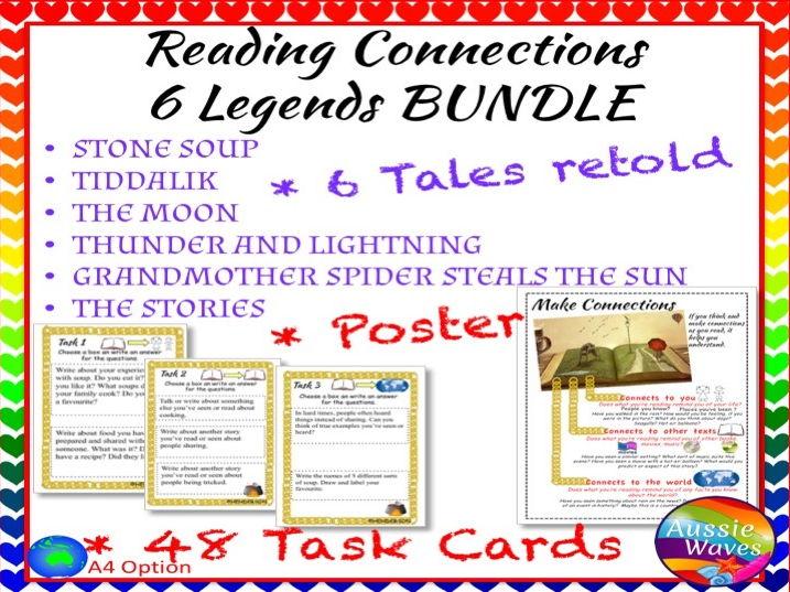 Myths Legends BUNDLE Cultural Text & Tasks Make Connections & Close Questions