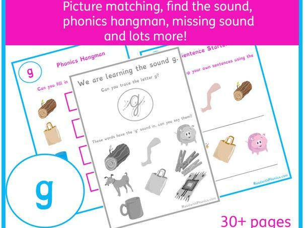 'g' Sound Phonics Bundle | Phonics Resources | Phonics Worksheets | CVC Words