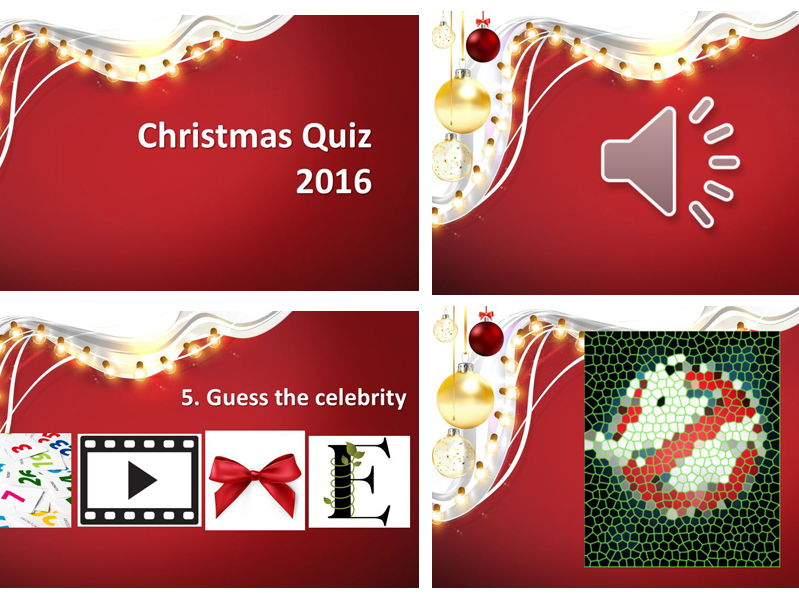 2016 End of Year Christmas Quiz