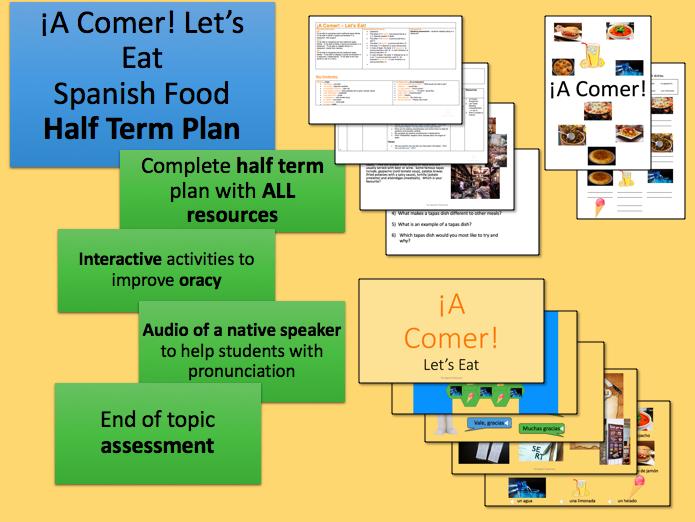 ¡A Comer! Spanish Half Term Plan