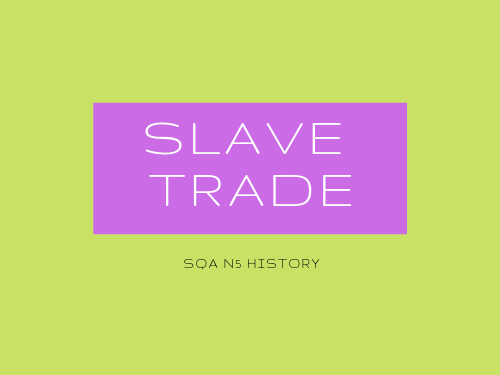 SQA N5 History Atlantic Slave Trade Revision Booklet Task