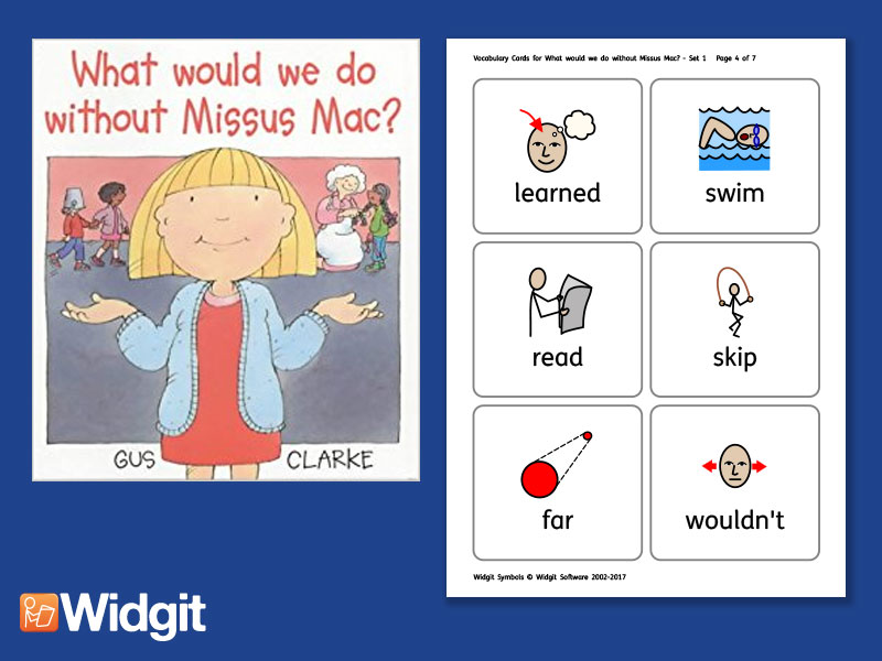What would we do without Missus Mac?  - Big Book Flashcards with Widgit Symbols