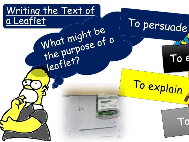 Leaflet Writing for GCSE