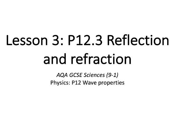 P12.3 Reflection and refraction