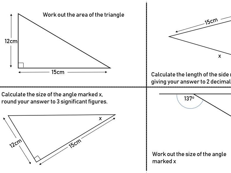 SSDD Questions - Right Angled Triangles