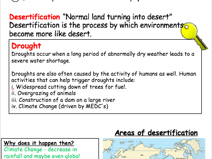 Desertification Revision Booklet (GCSE)