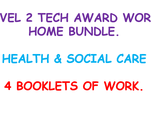Health and Social Care Level 2 Home Learning Bundle