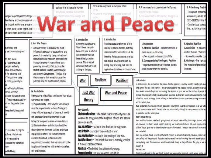 War and Peace Ethics Revision Map
